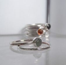 Gorgeous Handmade Bezel Set Aventurine Solid Silver Stacking Ring FREE 2nd Ring